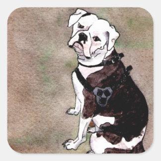 Amercian Bulldog square stickers