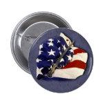 amerian flag button
