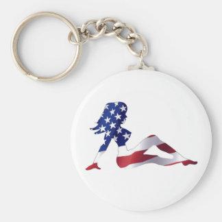 Amerian Women Keychain