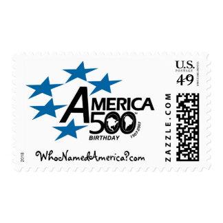 America500_WhoNamedAmerica-Stamp - Customized Postage Stamp