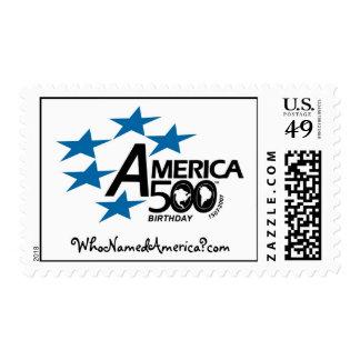 America500_WhoNamedAmerica-Stamp Stamp