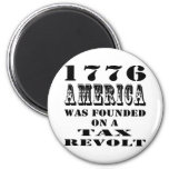 América 1776 fue fundada en una rebelión de impues imán de frigorífico