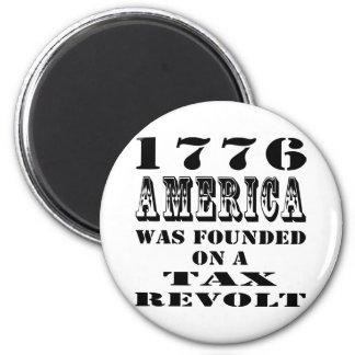América 1776 fue fundada en una rebelión de impues imán redondo 5 cm