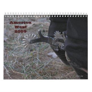 América 2009 del oeste calendarios de pared