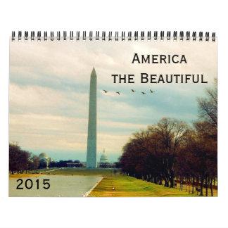 América 2015 hermoso calendarios