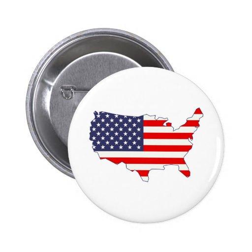 America 2 Inch Round Button