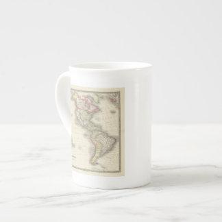 América 2 taza de porcelana