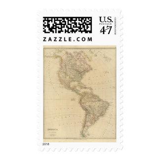 América 2 timbres postales