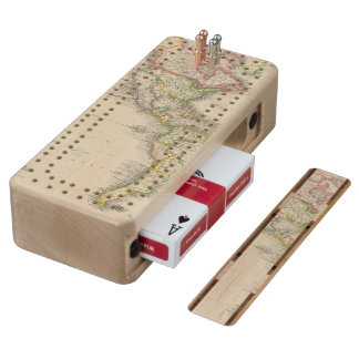 America 2 wood cribbage board