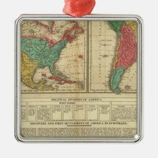 América 3 ornaments para arbol de navidad