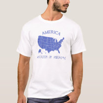 America 50 states of Awesome t-shirt