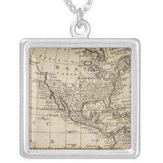 America 6 square pendant necklace