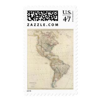 América 7 timbre postal