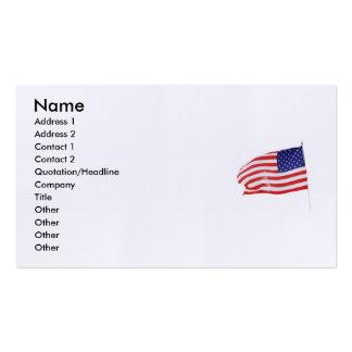 América 862 patrióticos tarjeta de negocio