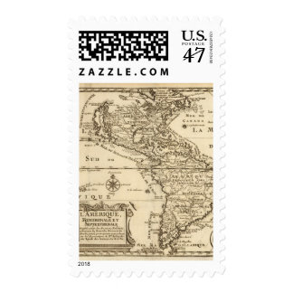 América 8 sellos postales