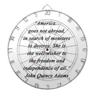 America Abroad - John Q Adams Dart Board