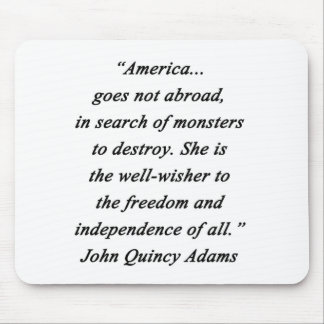 America Abroad - John Q Adams Mouse Pad