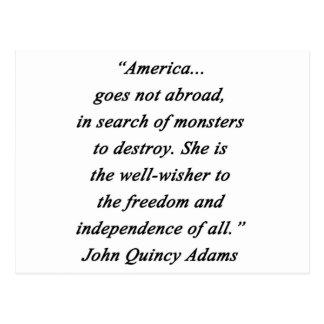 America Abroad - John Q Adams Postcard