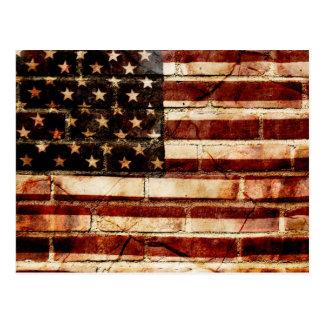 América agrietada tarjeta postal