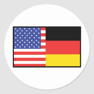 América Alemania Etiqueta Redonda