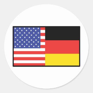 América Alemania Pegatina Redonda