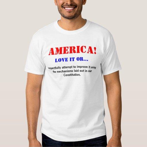 ¡AMÉRICA! Ámela o… Camiseta Camisas