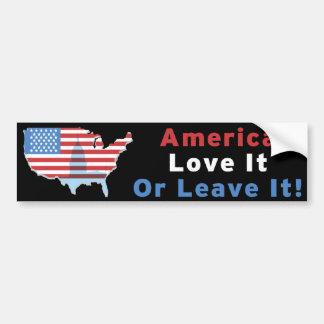 ¡América - ámela o déjela! Etiqueta De Parachoque