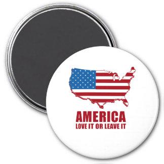 América. Ámela o déjelo Imán Redondo 7 Cm