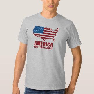 América. Ámela o déjelo Remeras