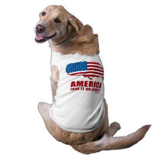 América. Ámela o déjelo Playera Sin Mangas Para Perro