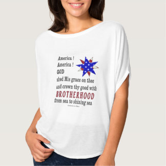 America America God Shed his grace on Thee T-Shirt