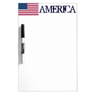 AMERICA-American Flag Dry-Erase Whiteboard
