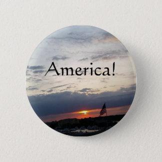 America!- American Flag Photo, Charleston SC Button