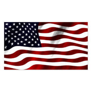 America American USA flag flying in the wind Business Cards