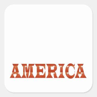 America American USA : RED Artistic Base LOWPRICE Sticker