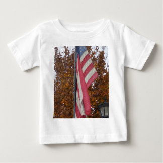 America Americana 4th of July USA Flag Patriotic Baby T-Shirt