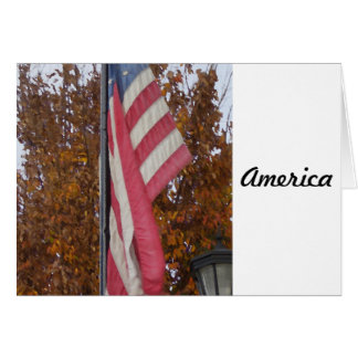 America Americana 4th of July USA Flag Patriotic Card