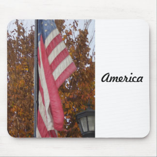 America Americana 4th of July USA Flag Patriotic Mouse Pad