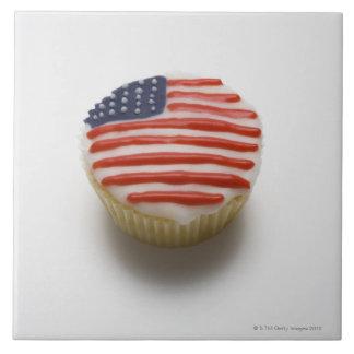 América, americano, barras y estrellas, hada azulejo cuadrado grande