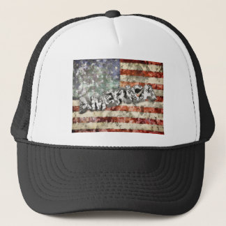 America And Flag Trucker Hat