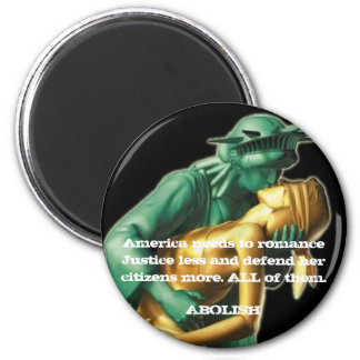 America and Justice 2 Inch Round Magnet