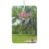 America And POW Flags Air Freshener