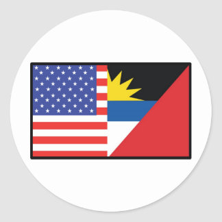 América Antiqua Barbuda Pegatina Redonda