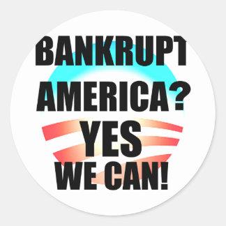 ¿América arruinada? Etiqueta Redonda