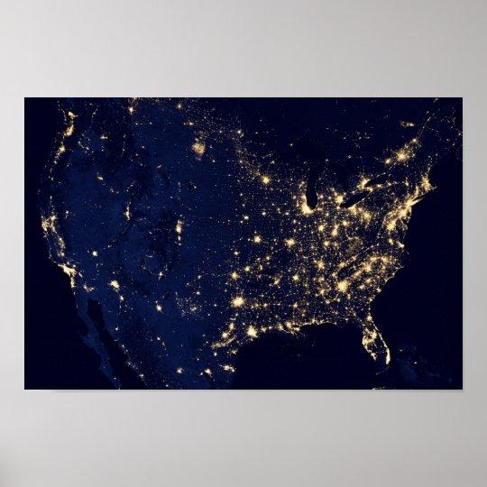 America at Night Poster