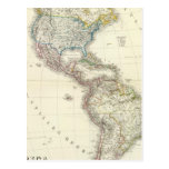 America Atlas Map Postcard