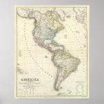 America Atlas Map Print