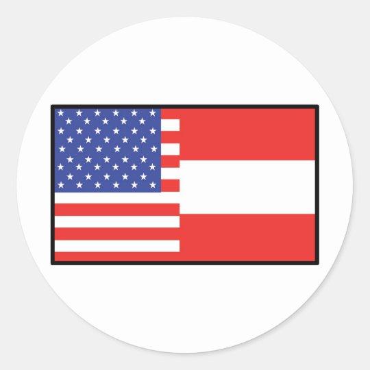 America Austria Classic Round Sticker