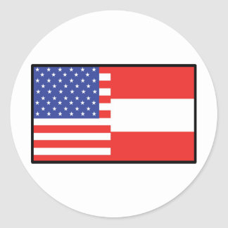 America Austria Round Stickers