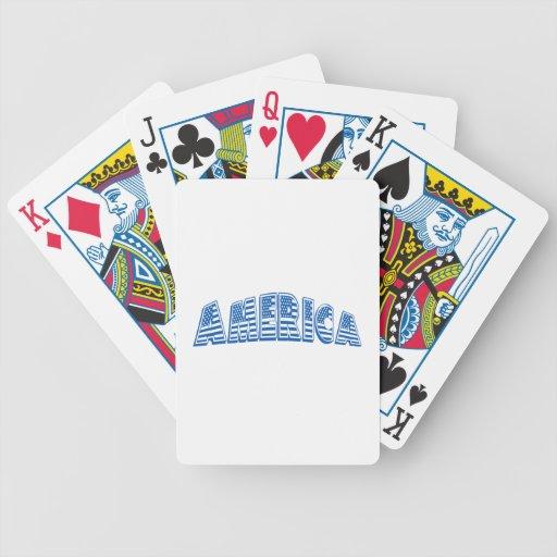 América azul baraja cartas de poker